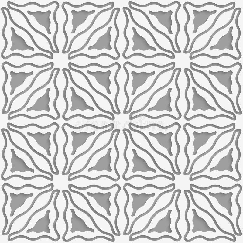 三角波浪被删去的无缝 库存例证