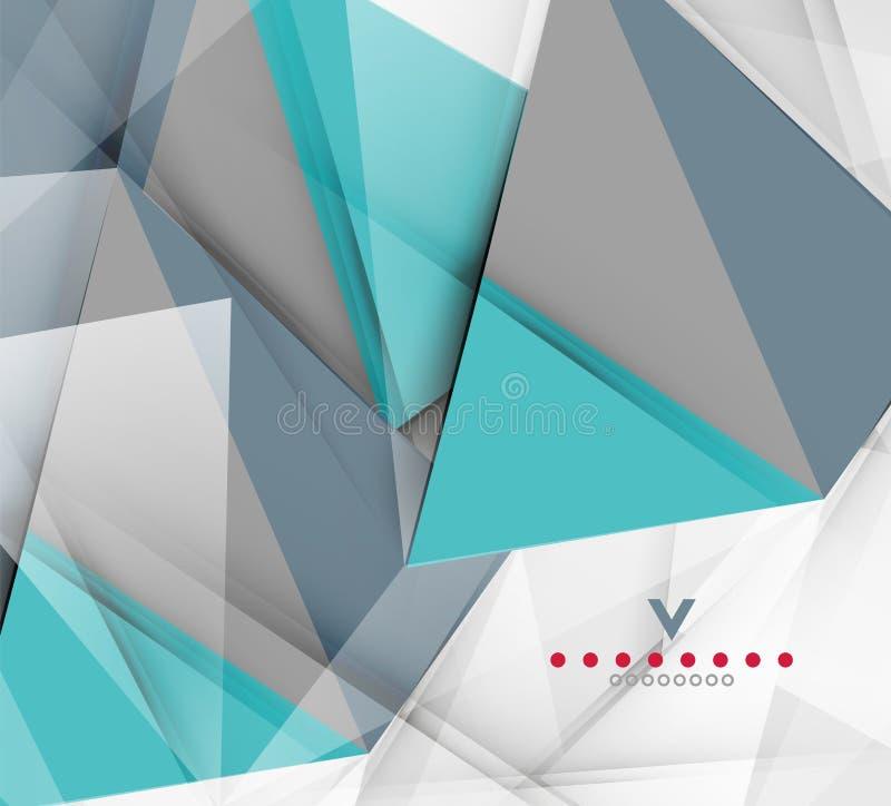 三角现代抽象背景 库存例证
