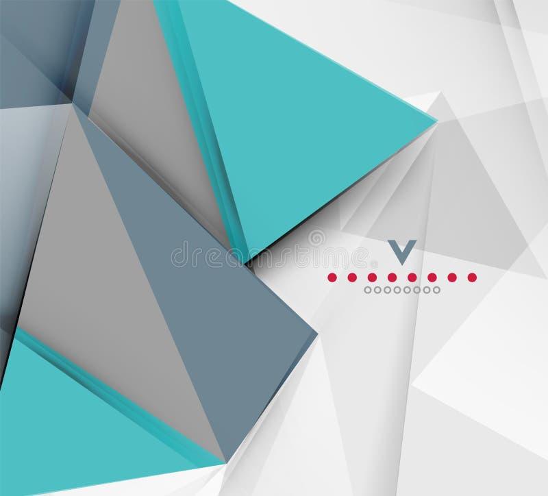三角现代抽象背景 皇族释放例证