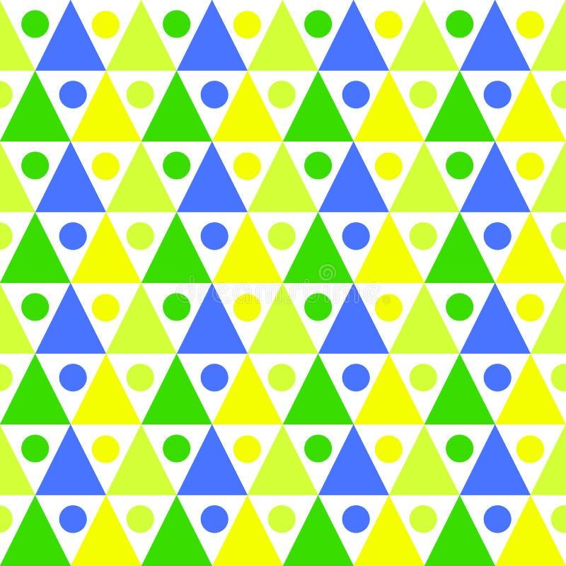 三角球样式无缝的背景 向量例证