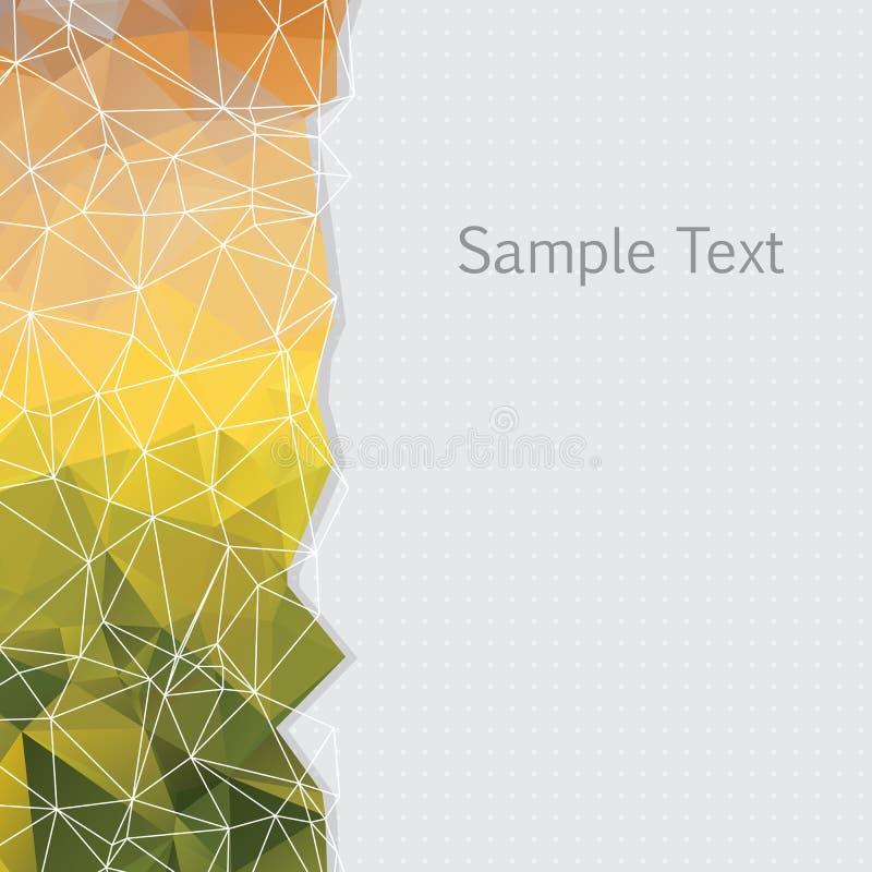三角的传染媒介抽象背景 库存例证