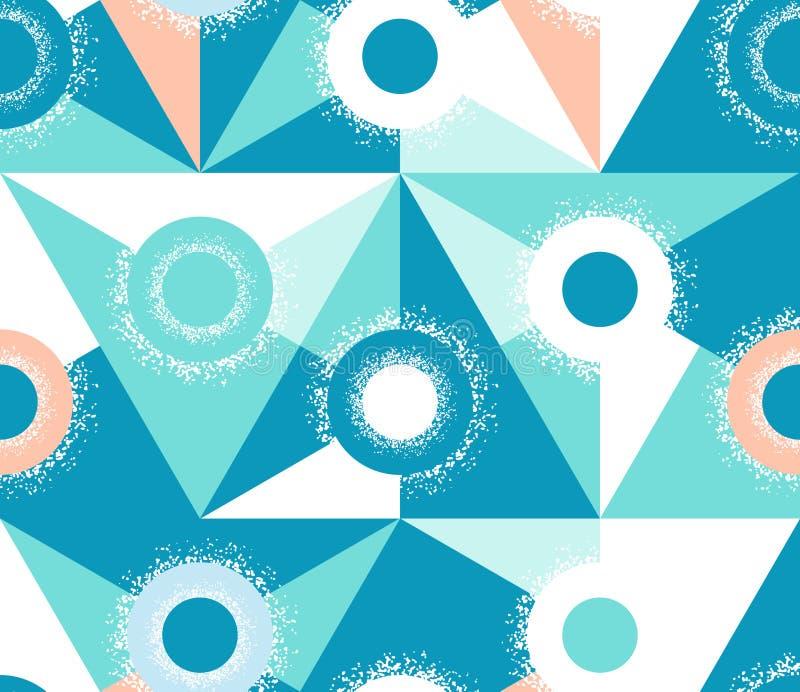 三角的抽象无缝的样式 容量几何纹理 皇族释放例证