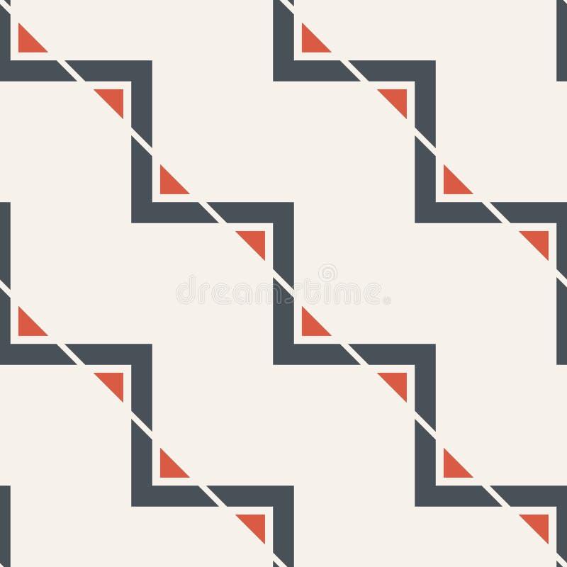 三角的抽象无缝的样式 现代时髦的纹理 之字形线 E 库存例证