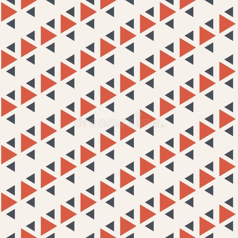 三角的抽象无缝的样式 重复几何三角瓦片 简单的设计 皇族释放例证