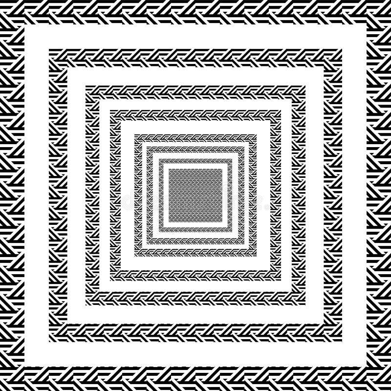 三角线正方形黑白运动 皇族释放例证