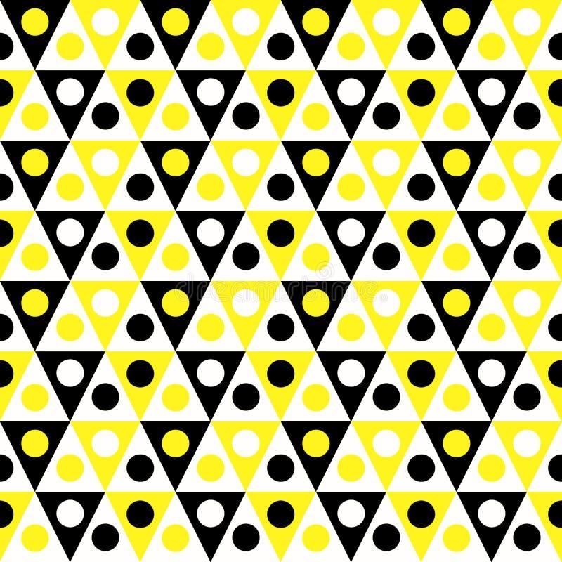 三角蜂房样式无缝的背景 向量例证