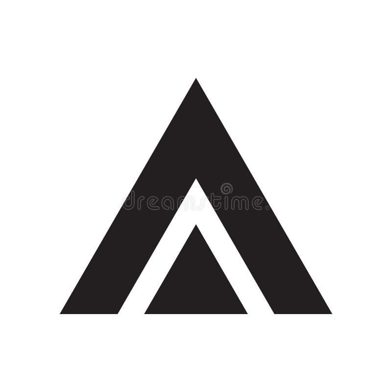 三角象在白色背景和标志隔绝的传染媒介标志,三角商标概念 向量例证