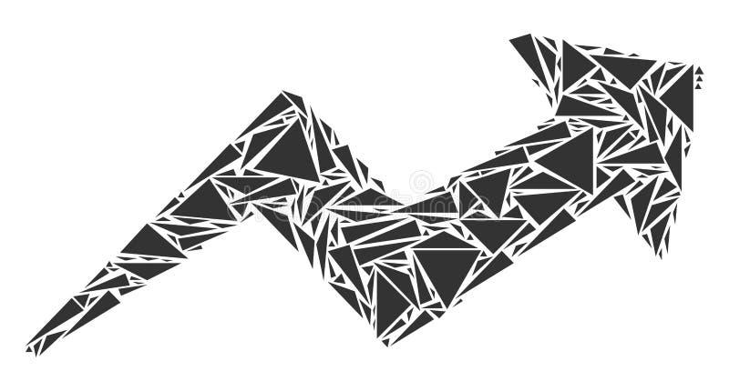 三角趋向拼贴画  库存例证