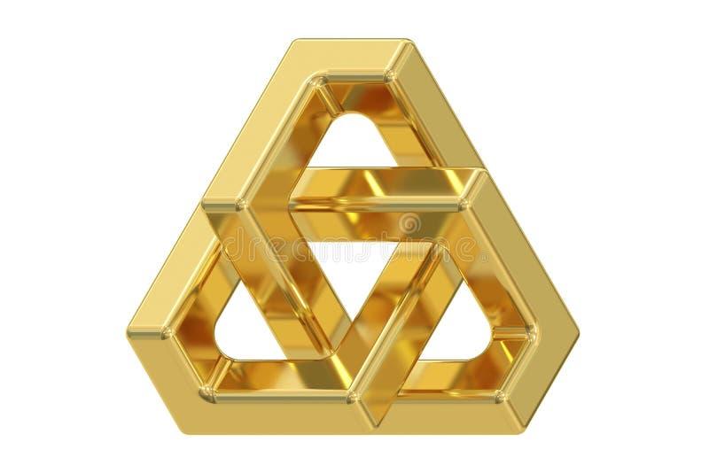三角错觉, 3D翻译 库存例证