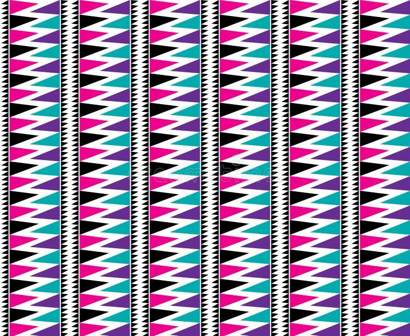 三角阿兹台克无缝的样式大胆明亮 向量例证