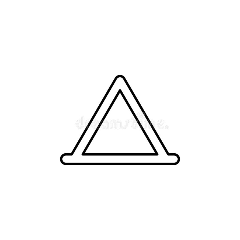 三角,帐篷概述象 能为网,商标,流动应用程序,UI,UX使用 向量例证