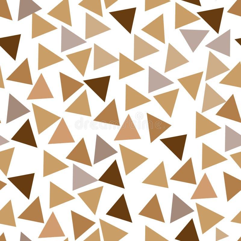 三角,抽象几何背景样式无缝的形状  传染媒介例证图表 库存例证