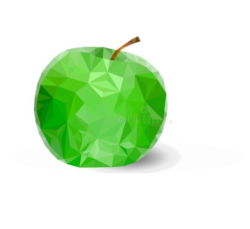 三角绿色苹果传染媒介 库存照片
