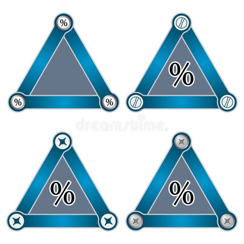 三角 库存例证