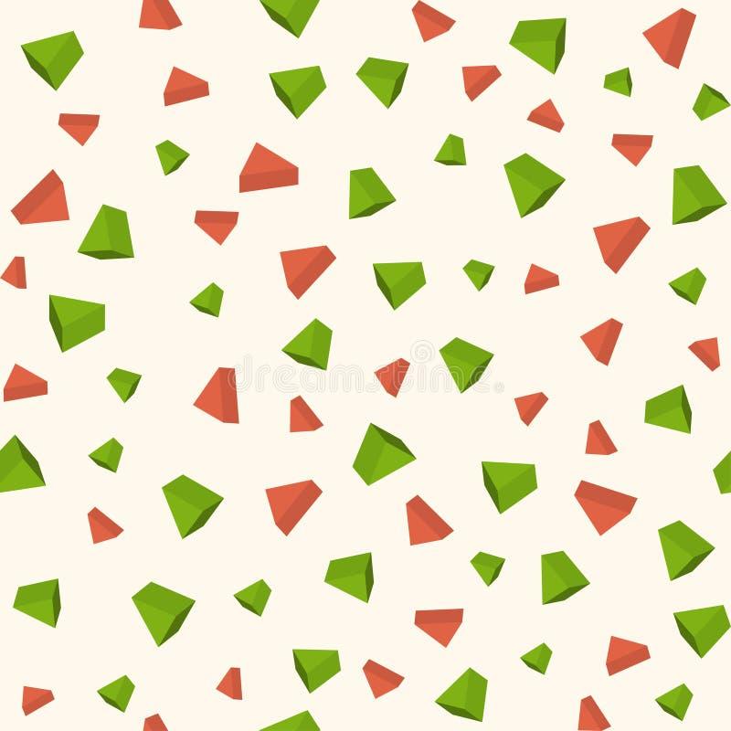 三角3d反对无缝的几何样式 皇族释放例证