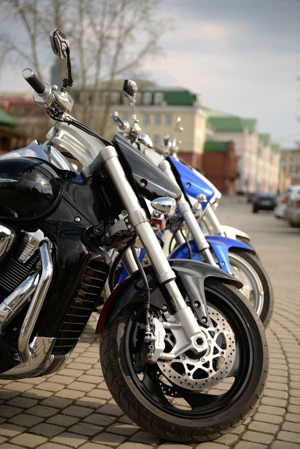三辆摩托车 免版税库存照片