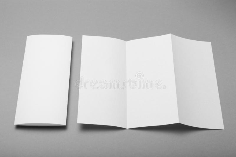 三部合成的小册子空白大模型 小册子背景 免版税库存图片