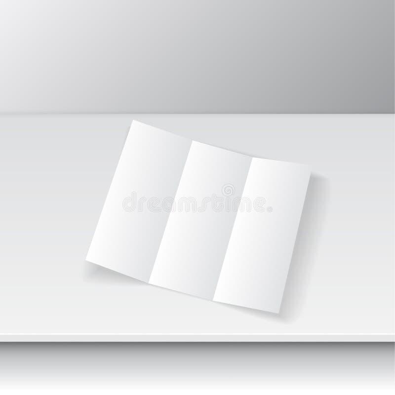 三部合成的小册子设计 向量例证