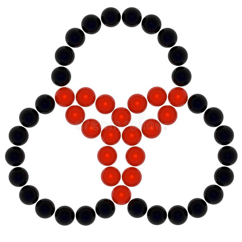 三重的符号 皇族释放例证