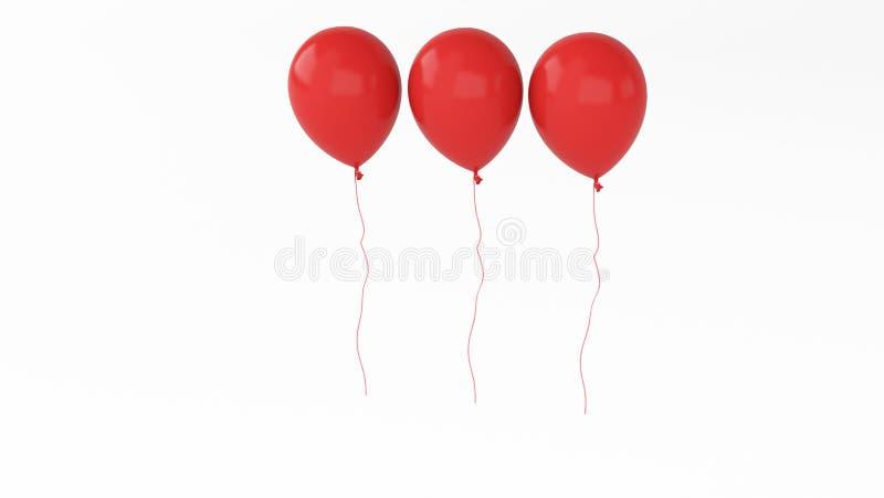 三轻快优雅红色3d 免版税库存图片