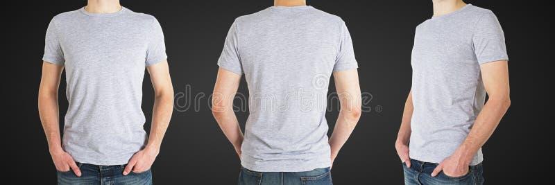 三T恤杉的人 免版税库存照片