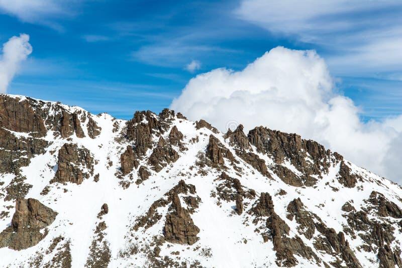 登上伊万斯山顶-科罗拉多 库存图片