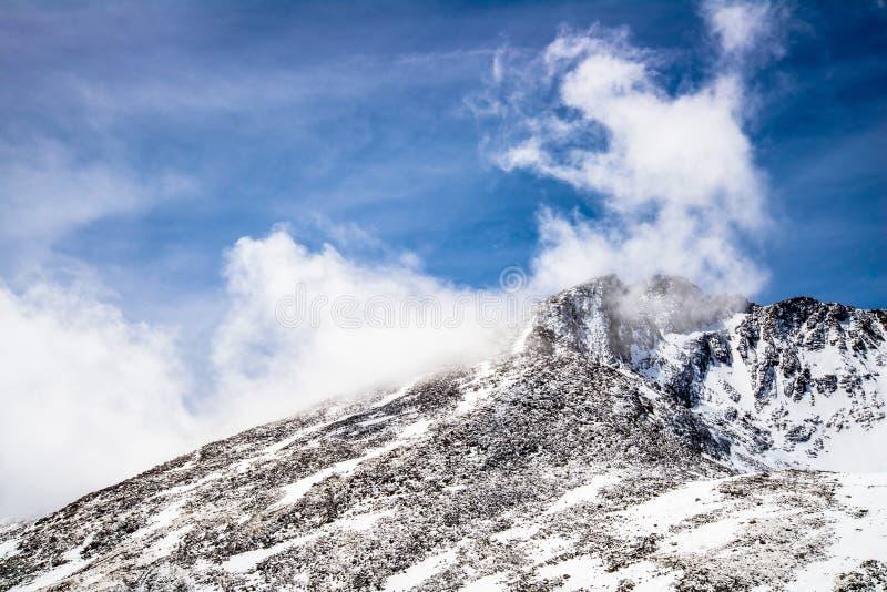 登上伊万斯山顶-科罗拉多 库存照片