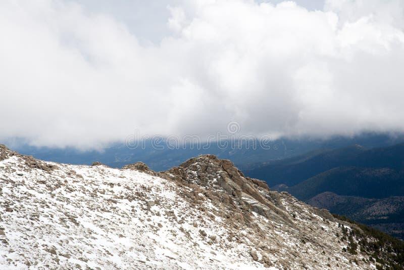 登上伊万斯山顶-科罗拉多 图库摄影