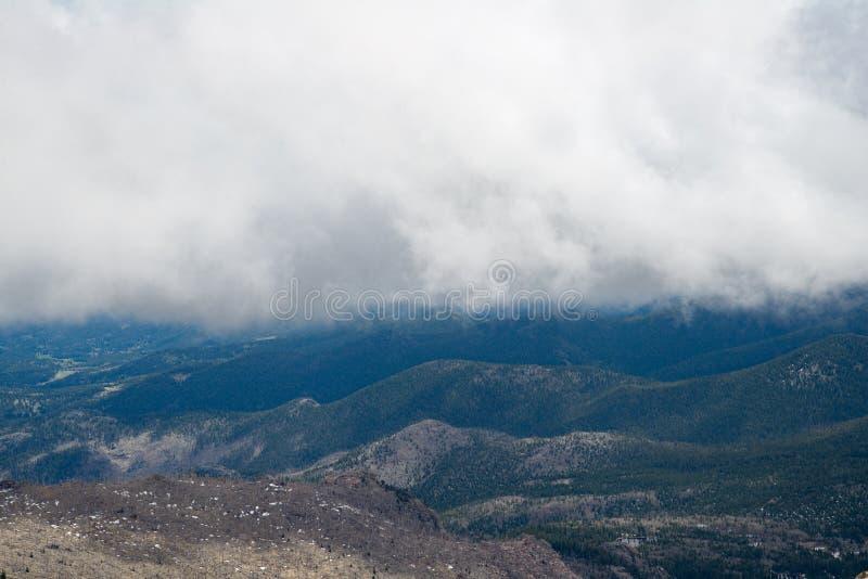 登上伊万斯山顶-科罗拉多 免版税库存图片