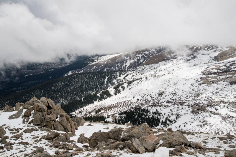 登上伊万斯-科罗拉多山顶  免版税库存照片