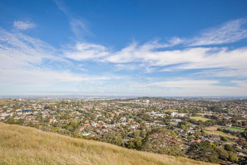 从登上伊甸园的风景奥克兰的市视图 免版税库存图片