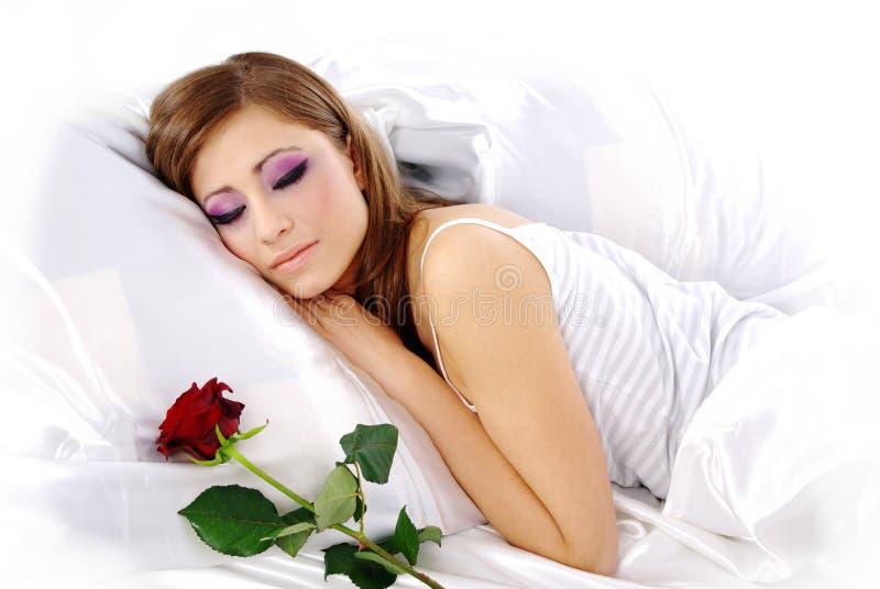 上升了休眠的妇女 库存图片