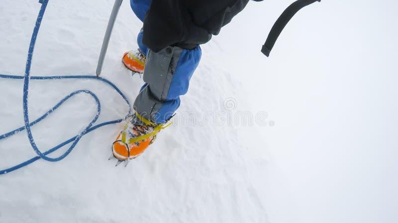 上升和登山体育 免版税库存图片