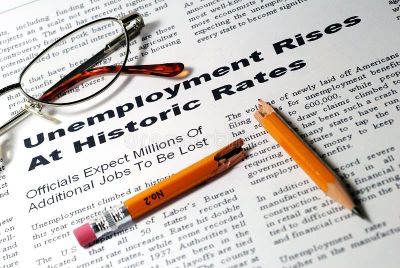 上升失业 库存图片