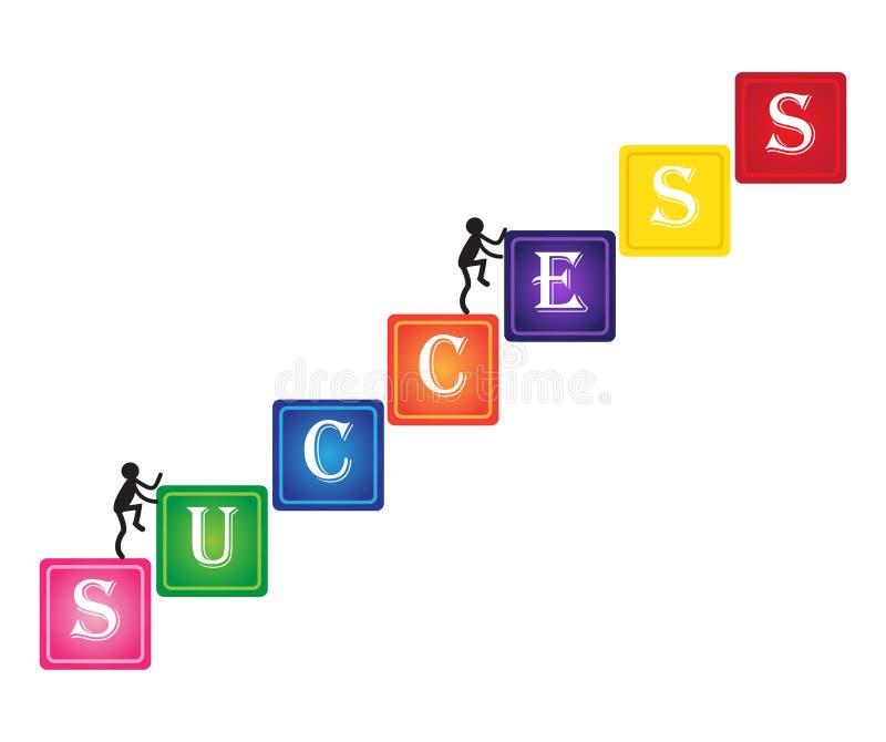 上升成功 E 路径成功 库存例证