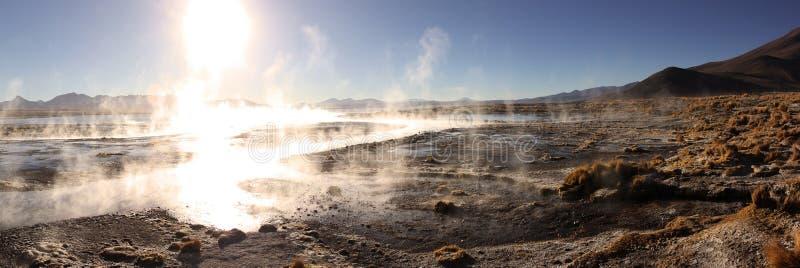上升暖流在玻利维亚 免版税库存照片