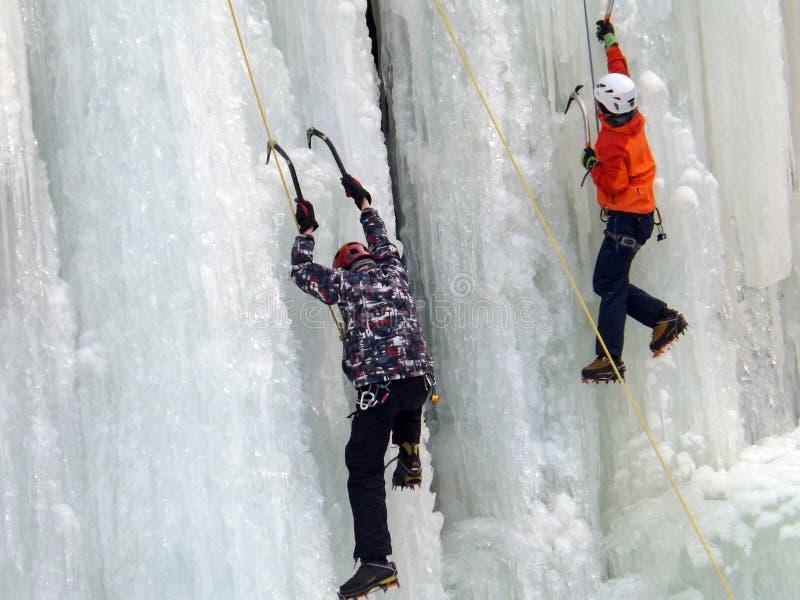 上升的冰崩 免版税库存照片