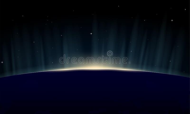 上升的地球 向量例证