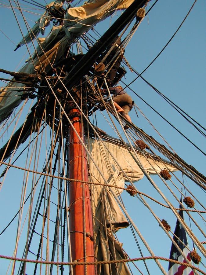 上升的帆柱 图库摄影