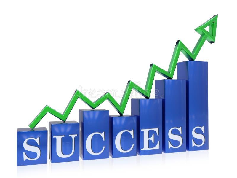 上升的成功图表 库存例证