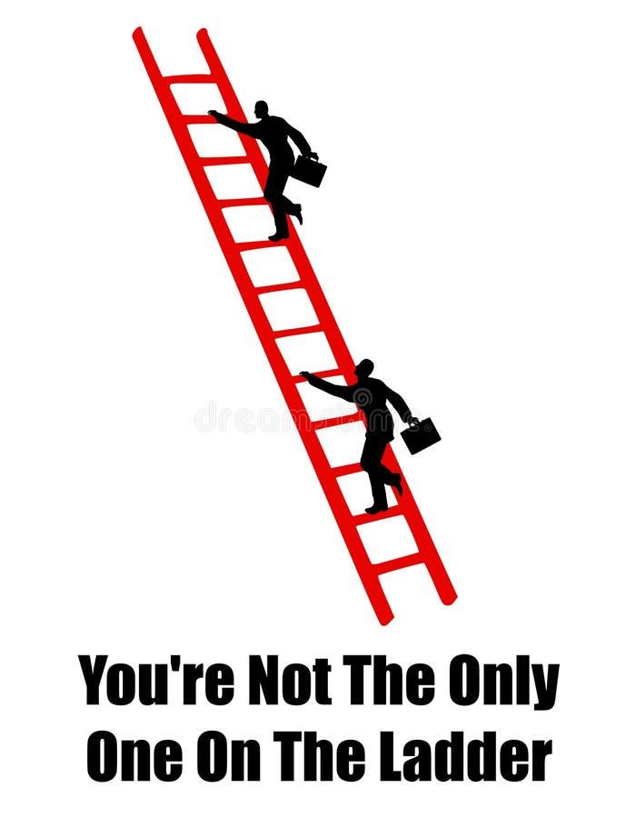 上升的梯子成功 库存例证