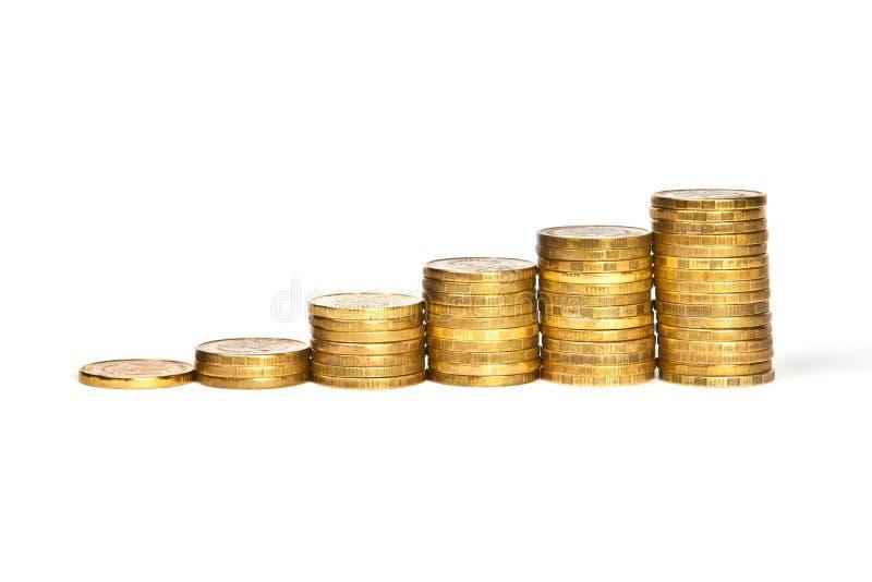 上升的硬币 免版税库存图片