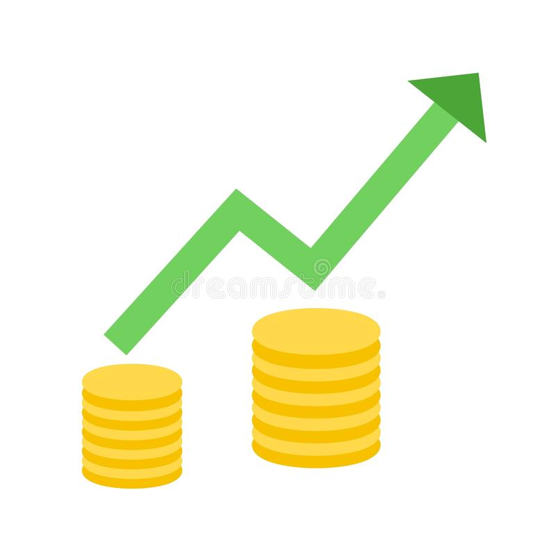 上升的经济II 库存例证