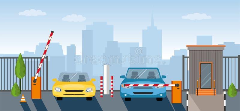 上升障碍,安全的自动化系统门的SAutomatic 向量例证