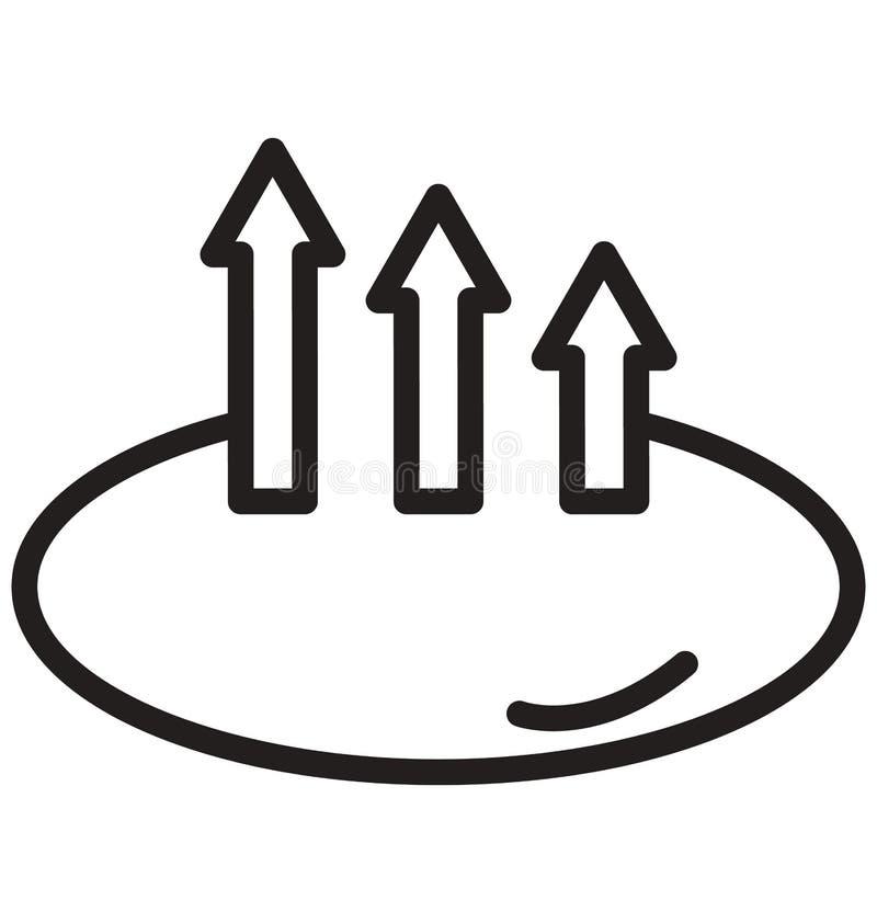 上升,可以容易地修改成长线被隔绝的传染媒介象和编辑 库存例证
