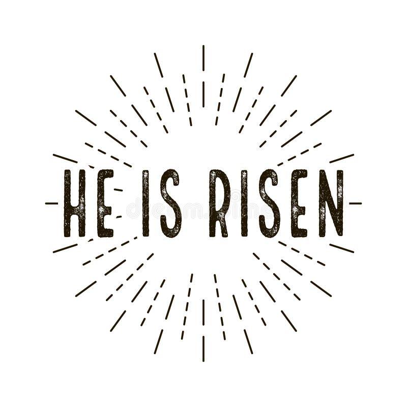 上升 庆祝天 日愉快的复活节 皇族释放例证