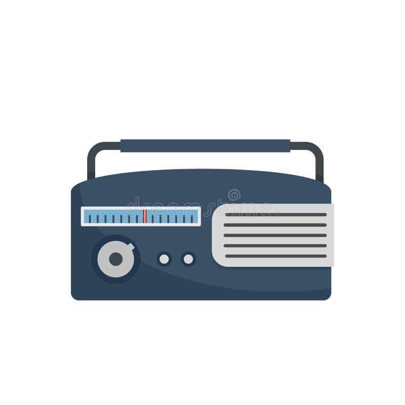 上午收音机象,平的样式 皇族释放例证