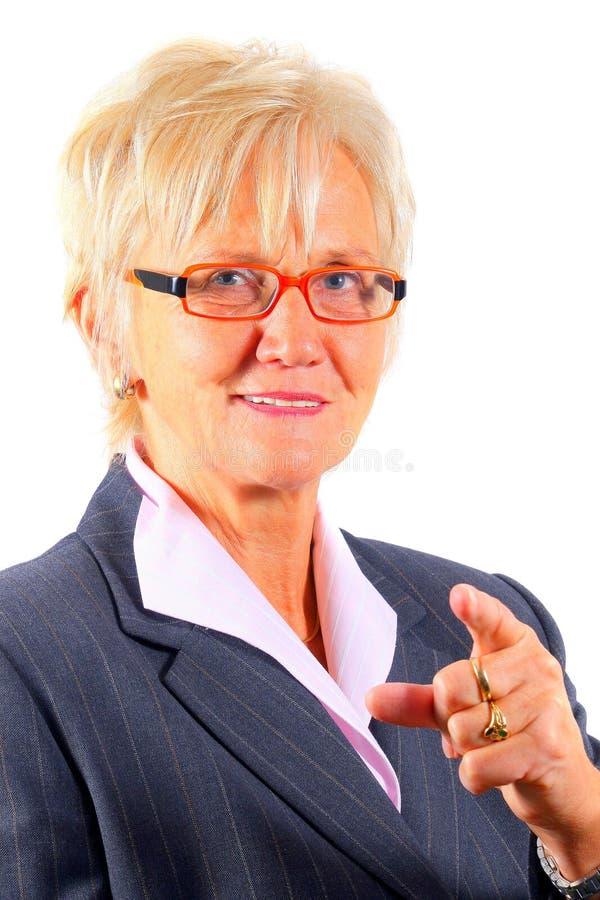 上司女性前辈 免版税库存照片