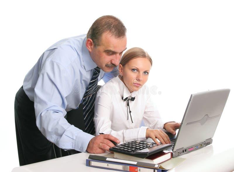 上司秘书 免版税库存照片