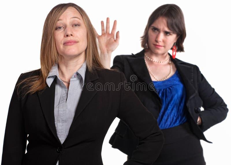 上司遣散她的夫人 免版税库存图片